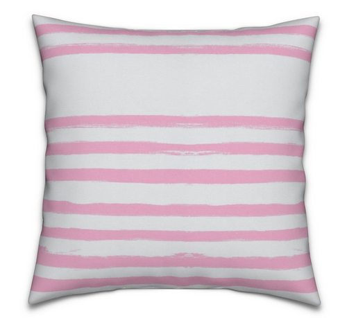Stripe On Stripe Bubblegum Pink Pillow
