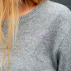 Patchwork Heather Grey + Cobalt Cashmere (FALL PRE-ORDER)