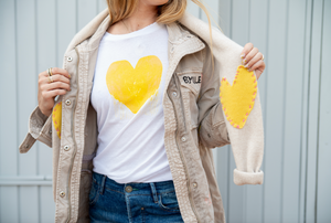 Drenched in Love Drippy Heart White Tee