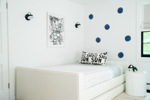 Dots Indigo Paperless Wallpaper (12 per pack)