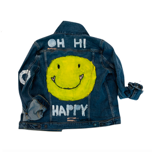 Happy Handpainted Denim Jacket