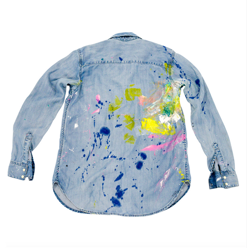 Splat KR Handpainted Denim Shirt