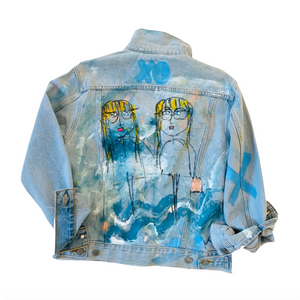 XO Handpainted Denim Jacket