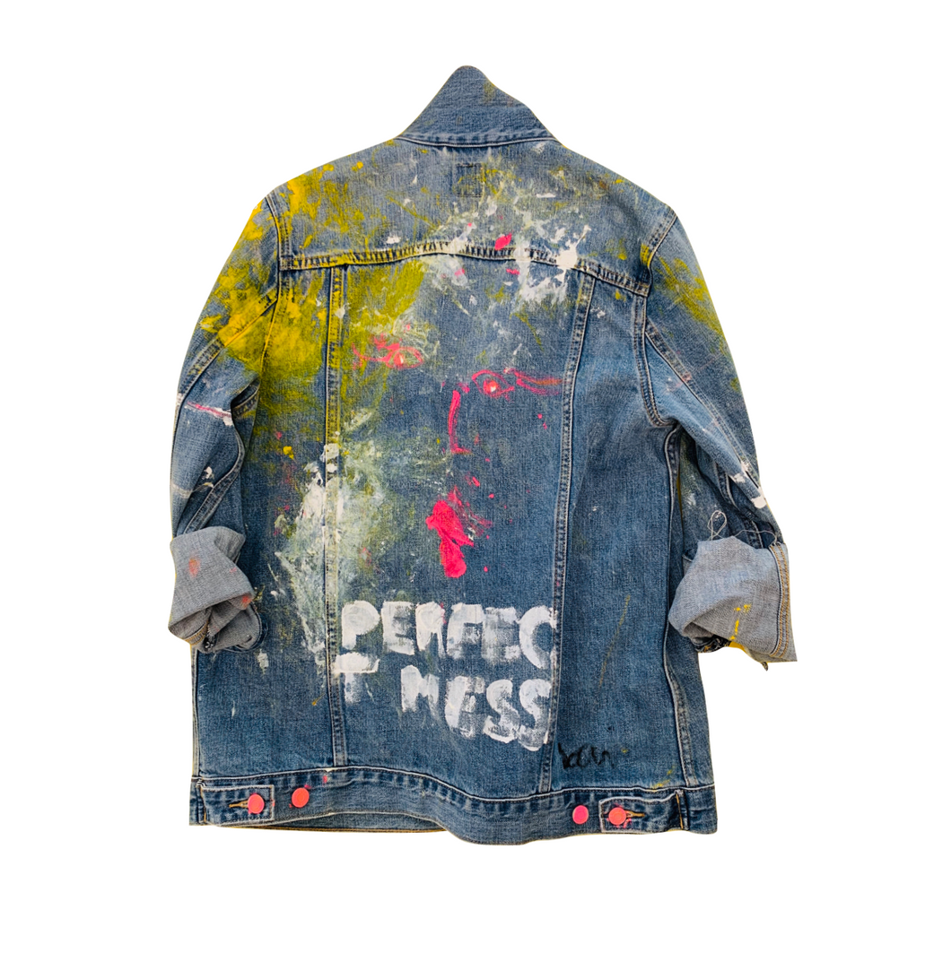Perfect Mess Handpainted Denim Jacket
