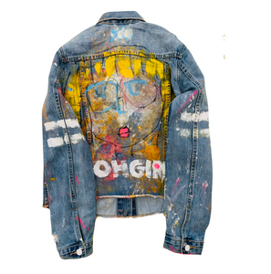 Oh Girl Handpainted Denim Jacket