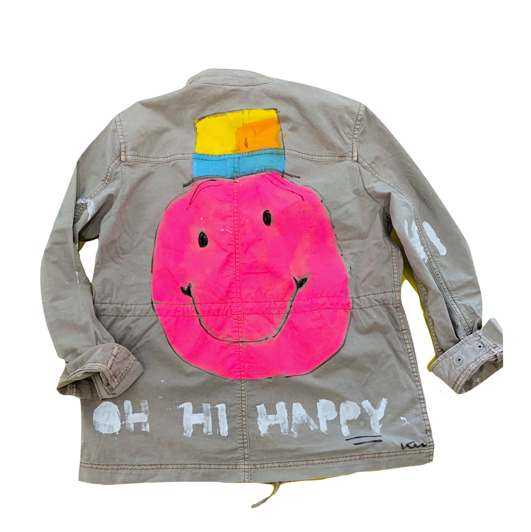 Happy In My Hat Handpainted Army Jacket