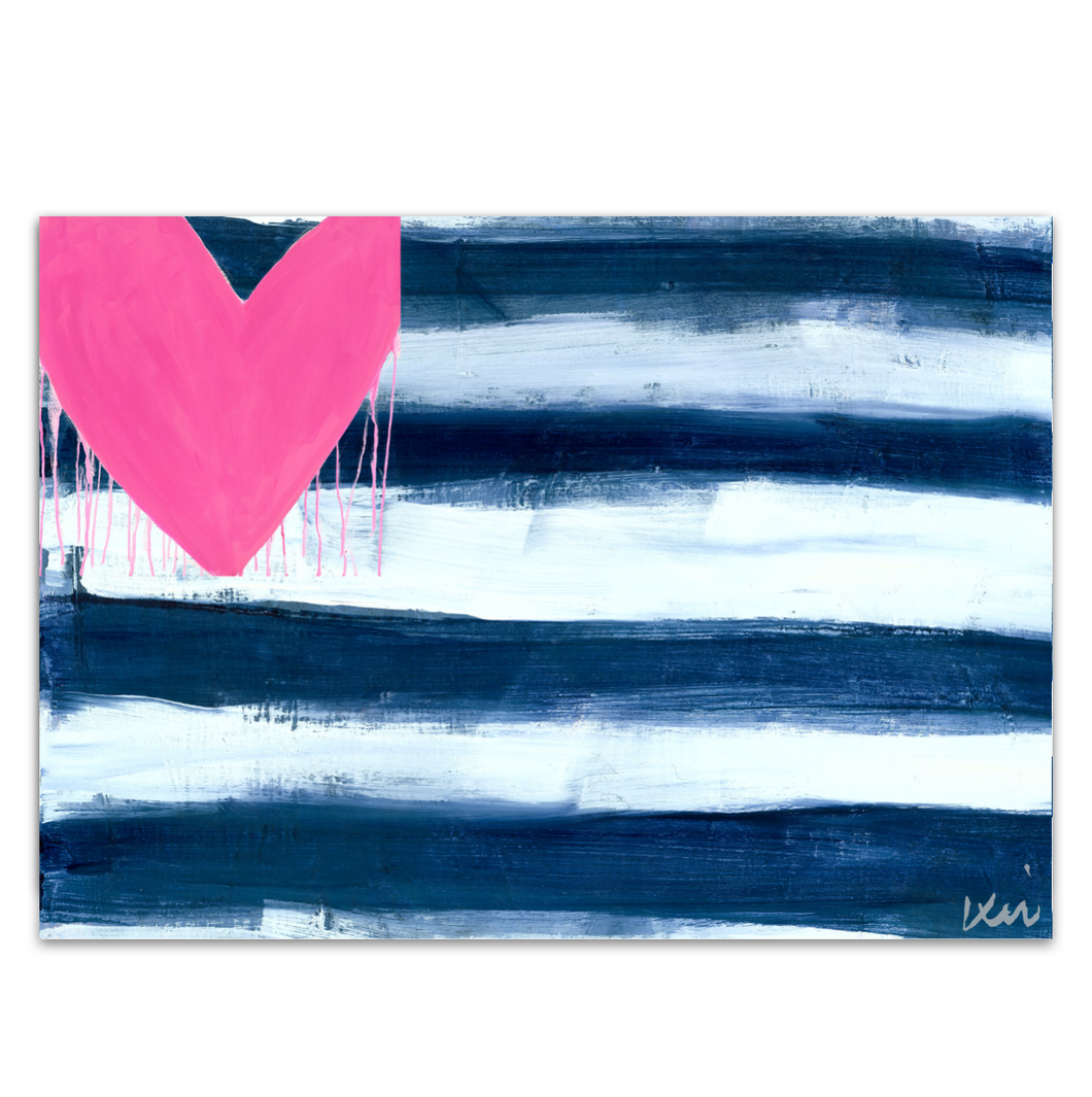 Hearts & Stripes Forever Art Print