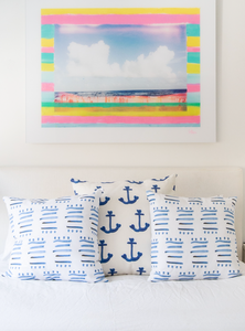 Ahoy Matey Bubblegum Pillow