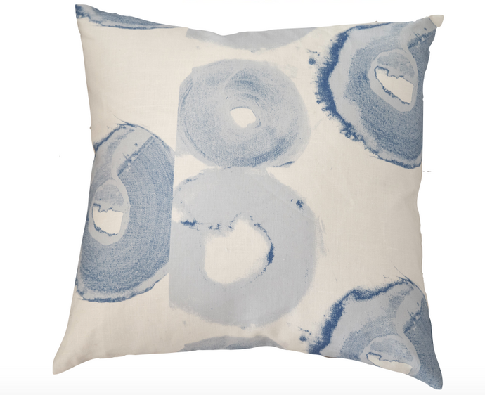 Bagels French Blue Pillow - 1 in stock