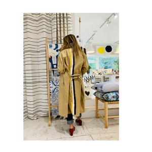 Mrs. Goldstripes Handpainted Trench Coat