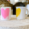 Drippy Heart Mug - Yellow