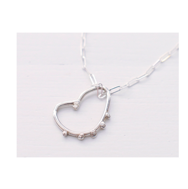 Drippy Heart Pendant- Sterling Silver