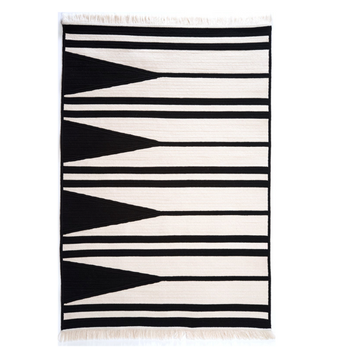 Striped Wood Rug by Thayer