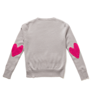 Patchwork Love Cashmere - Dove + Pop Pink