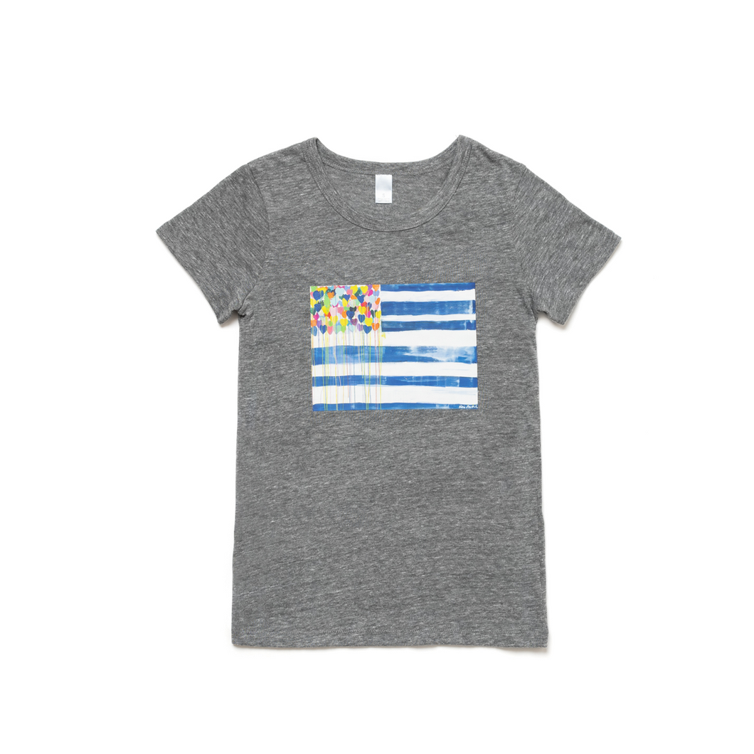United States of Love Charcoal Tee