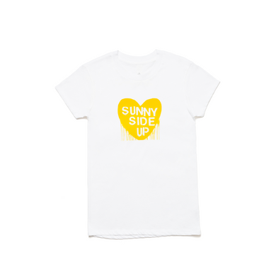 Sunny Side Up White Tee