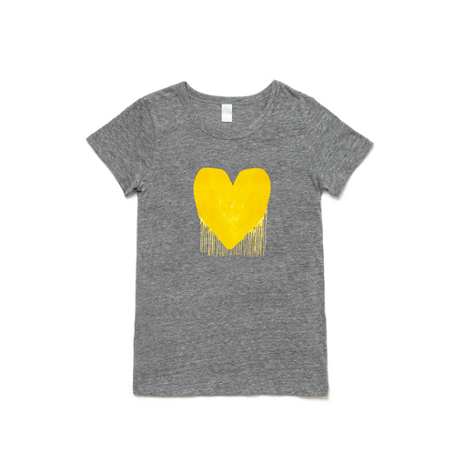 Drenched in Love Drippy Heart Charcoal Tee