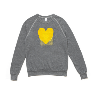 Drenched In Love Drippy Heart Charcoal Sweatshirt