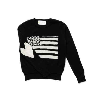 Love Has No Color Flag Cashmere Sweater - Black
