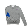 Patchwork Heather Grey + Cobalt Cashmere