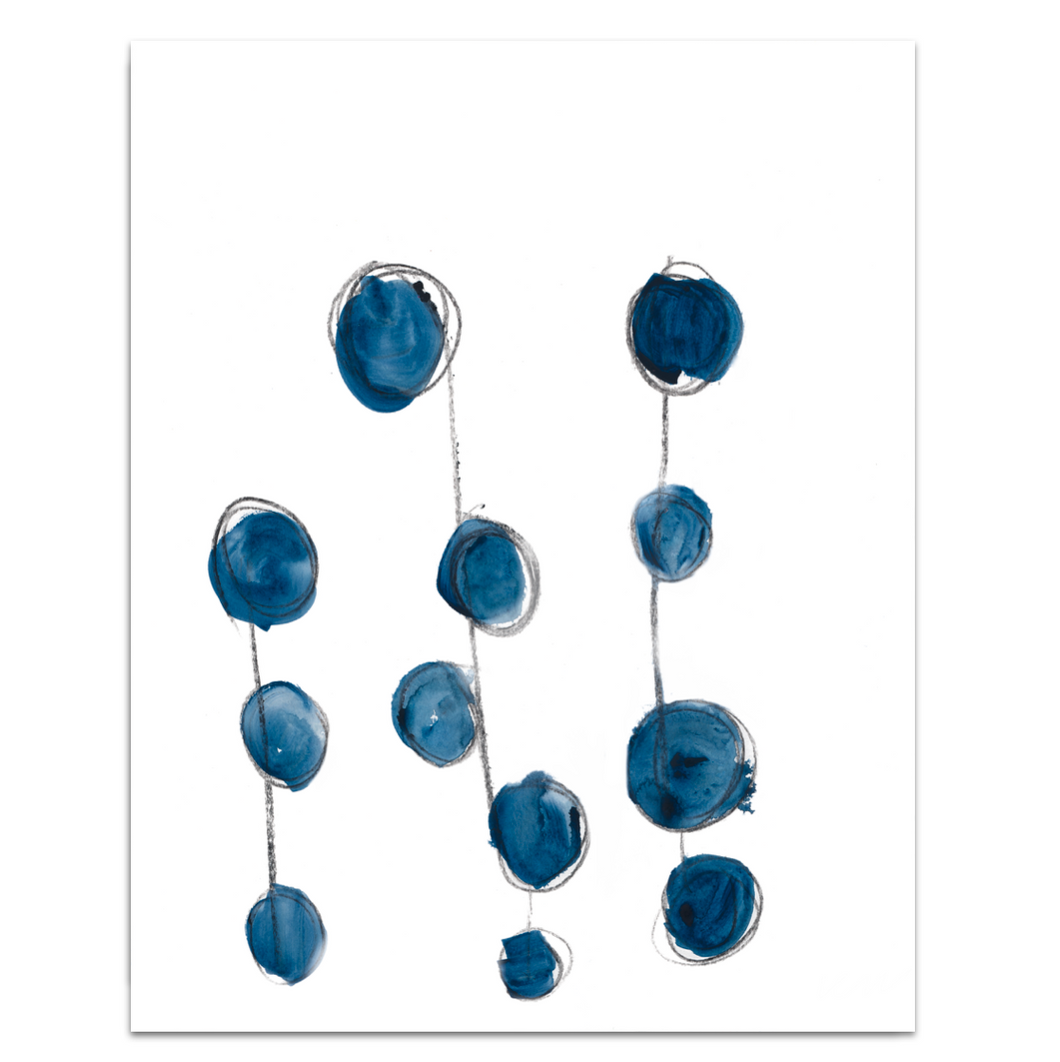 B is for Blueberry Art Print