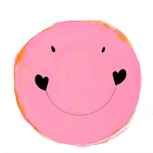 Smiley Pop Pink Paperless Wallpaper (single)