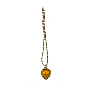 Heart + Sol Gemstone Charm- 18K Gold