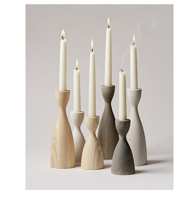 Wooden Candlestick Grouping
