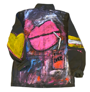 Love Soda Army Handpainted jacket