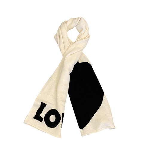 Loved Cashmere Scarf- Black and White