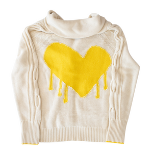 Drippy Heart Summer Cardigan