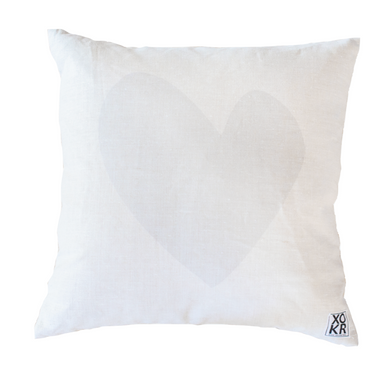 Imperfect Heart Dove Pillow