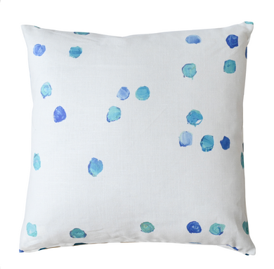 Dominoes Cornflower Blue Pillow