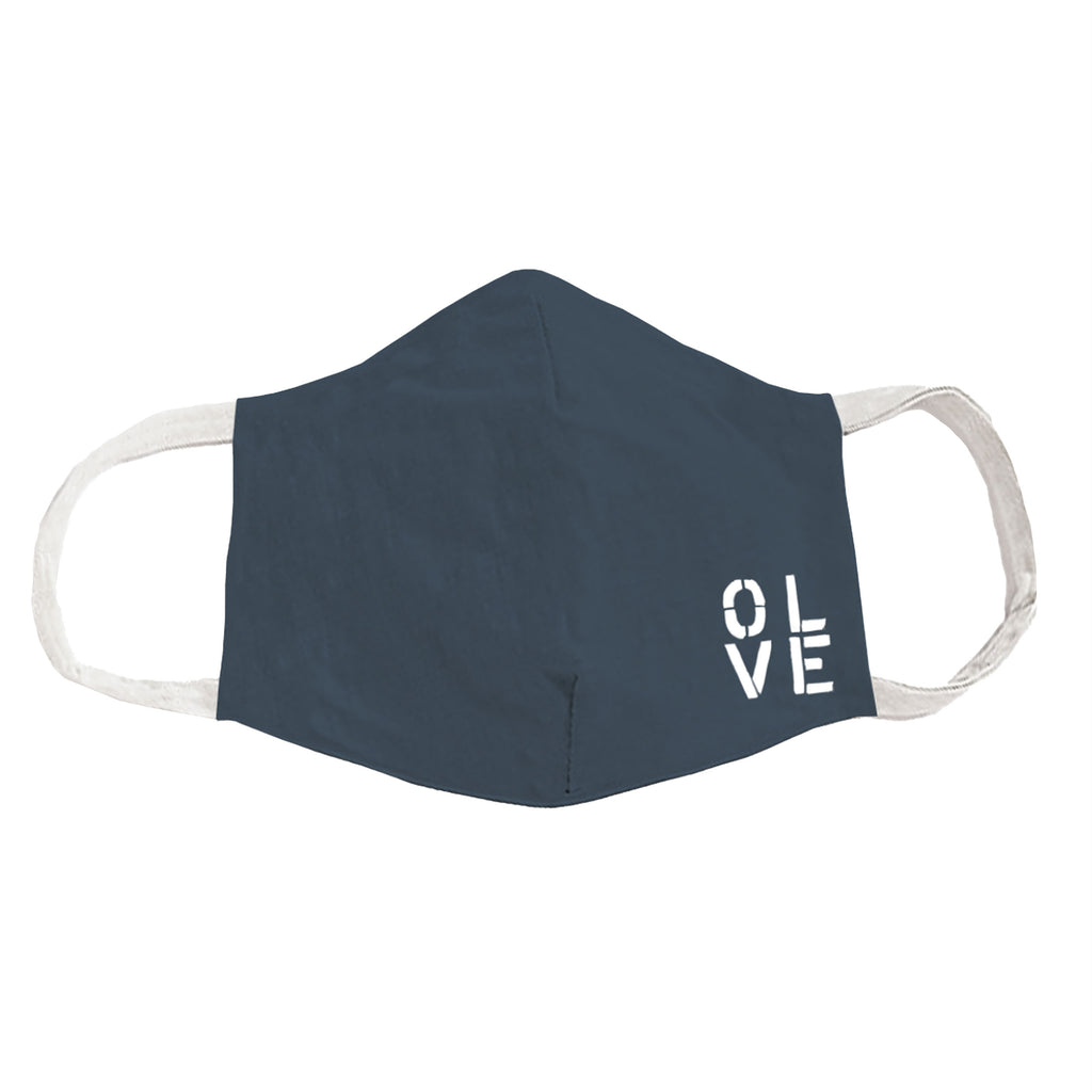Olive You Teal Face Cover