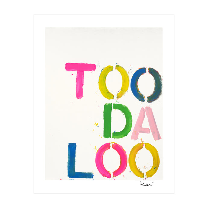 TOO DA LOO Mini Art Print