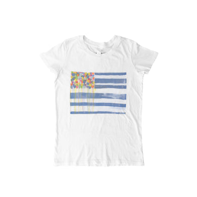 United States of Love White Tee