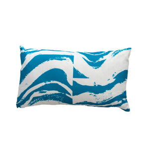 Island Block Azure Pillow