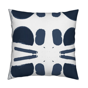 Purrfecto Indigo Fabric