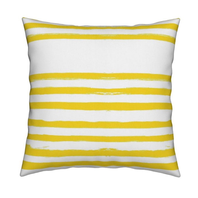 Stripe on Stripe Sunshine Pillow