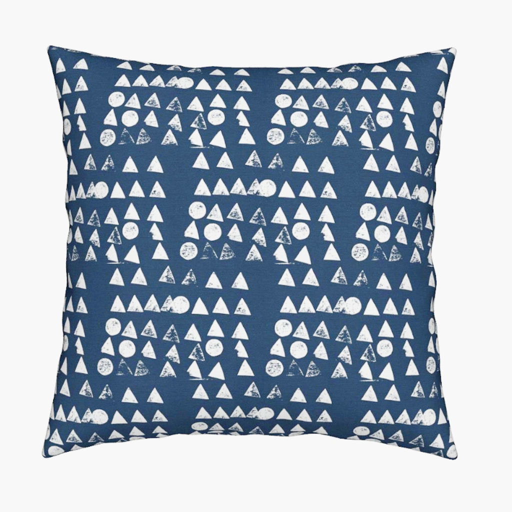 Moon + Tree Reverse Indigo Pillow