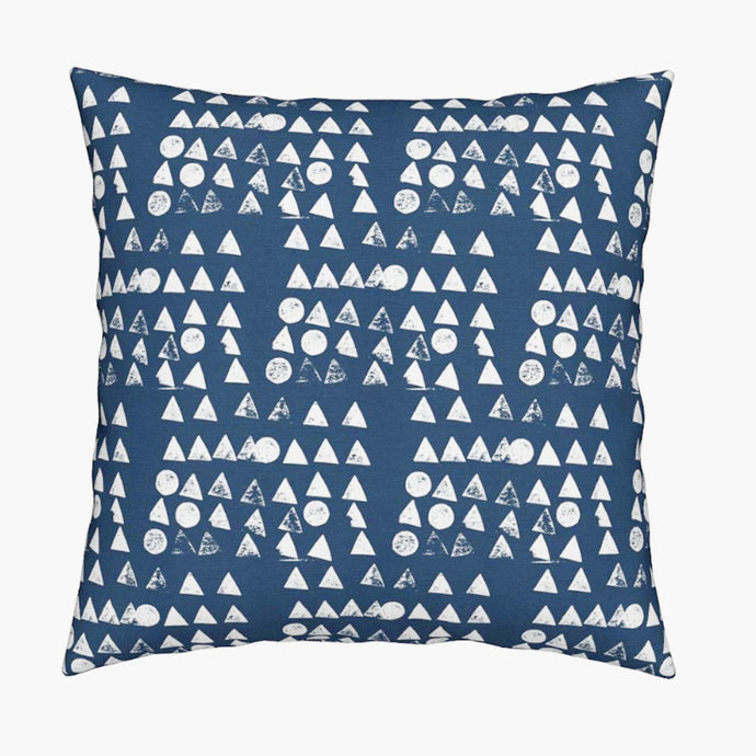 Moon + Tree Reverse Indigo Pillow - 1 in stock