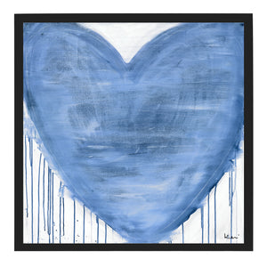 Violets Are Blue Drippy Heart Art Print