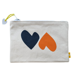 Imperfect Heart Canvas Pouch Vitamin L/Navy
