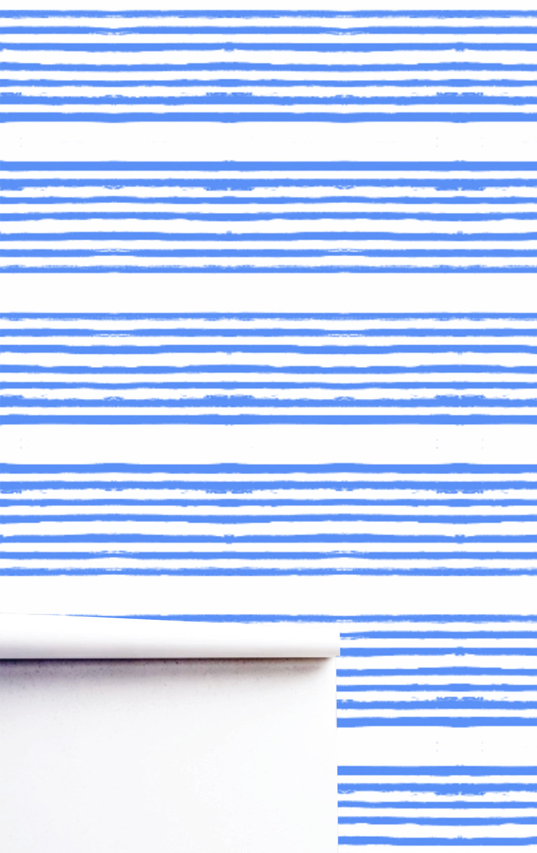 Stripe on Stripe Cornflower Wallpaper