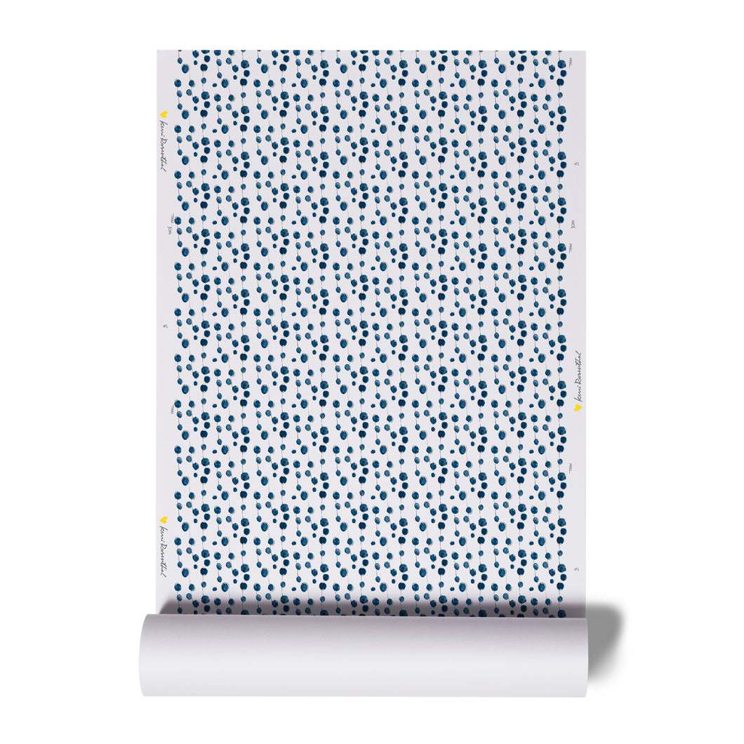 B Is For Blueberry Indigo Wallpaper