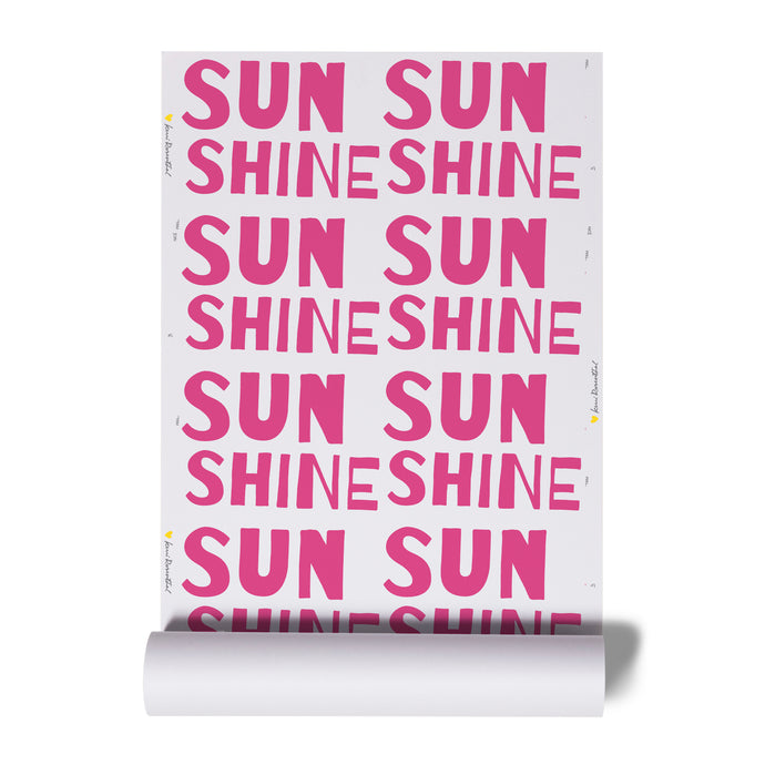 Sunshine Pop Pink Wallpaper