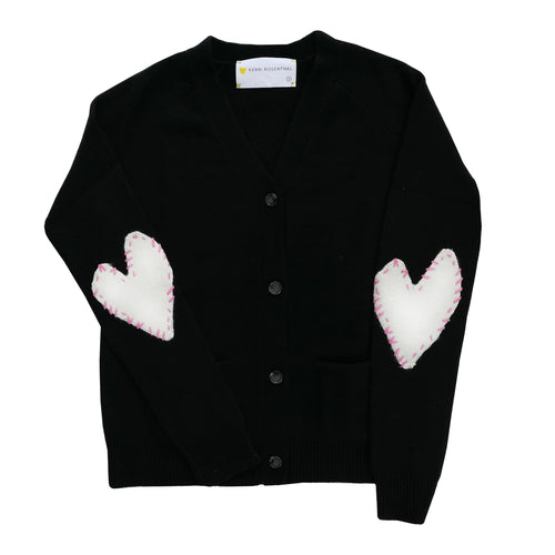 Willy Patchwork Cashmere Cardigan - Carbon + White