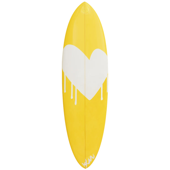 Drippy Heart Surfboard XL Paperless Wallpaper (single)