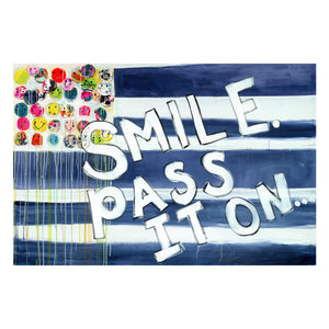Smile Pass It On Flag XL Paperless Wallpaper (single)
