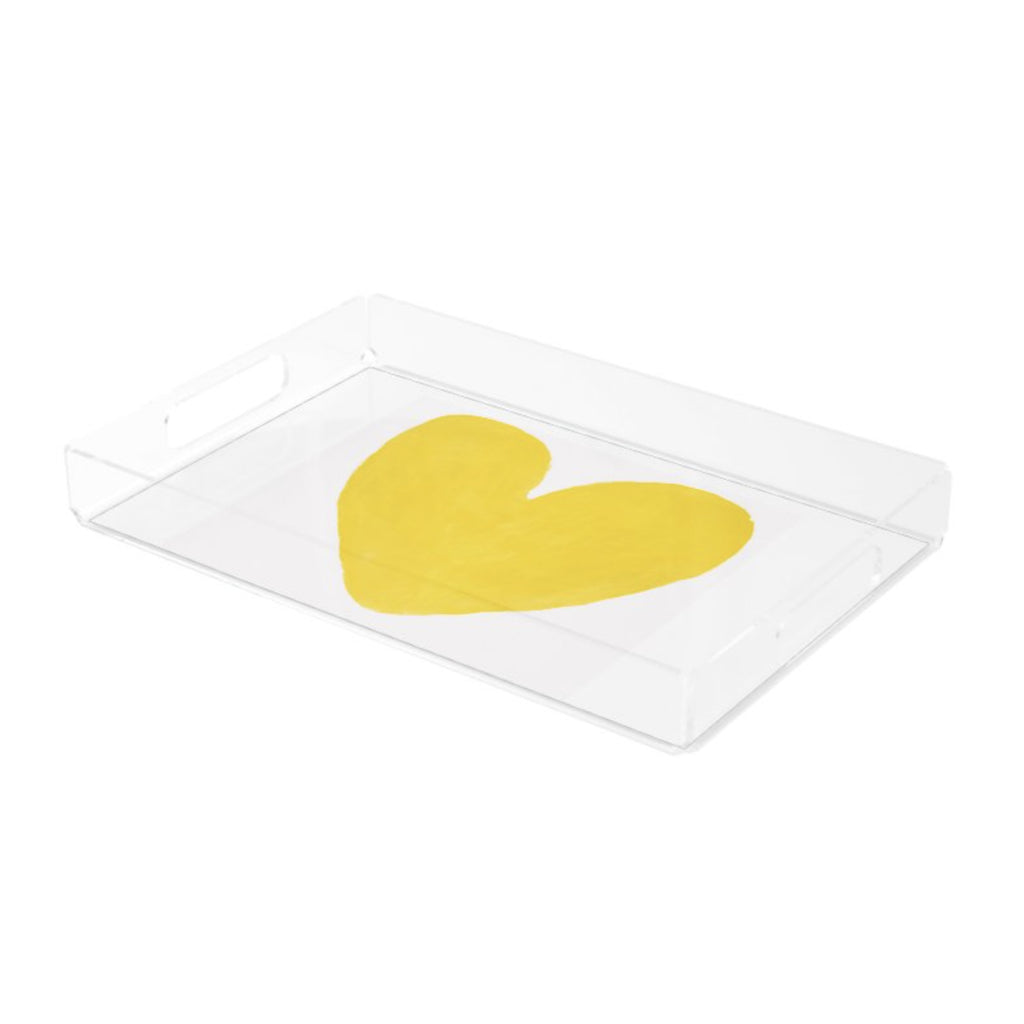 Yellow Heart Tray